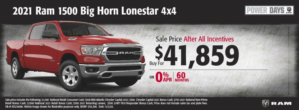 2020 Ram 1500 Big Horn/Lonestar 4x4