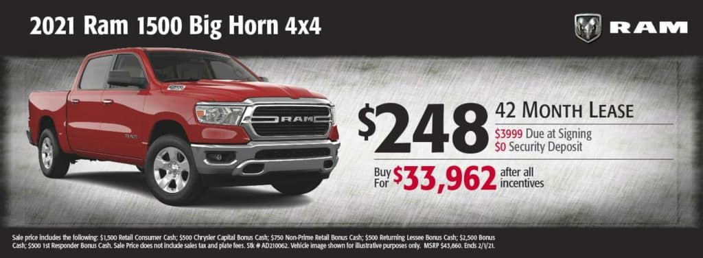 New 2021 Ram 1500 Big Horn 4x4