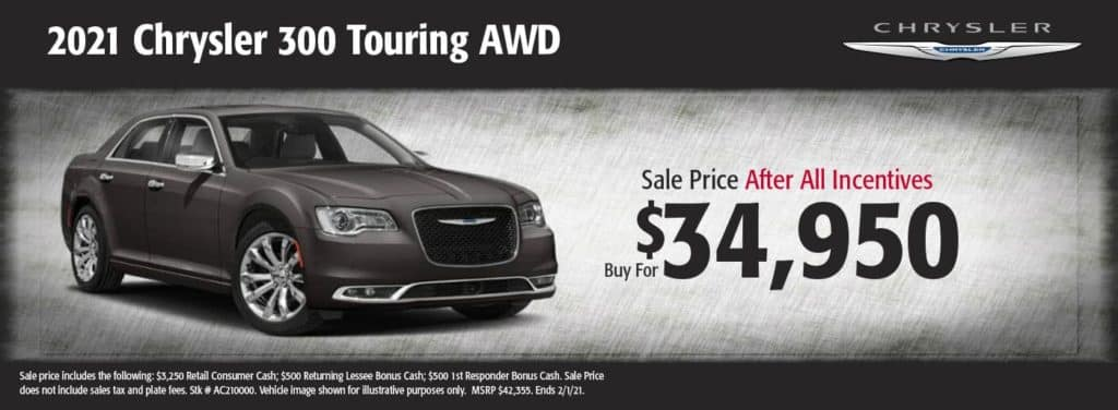New 2021 Chrysler 300 Touring AWD