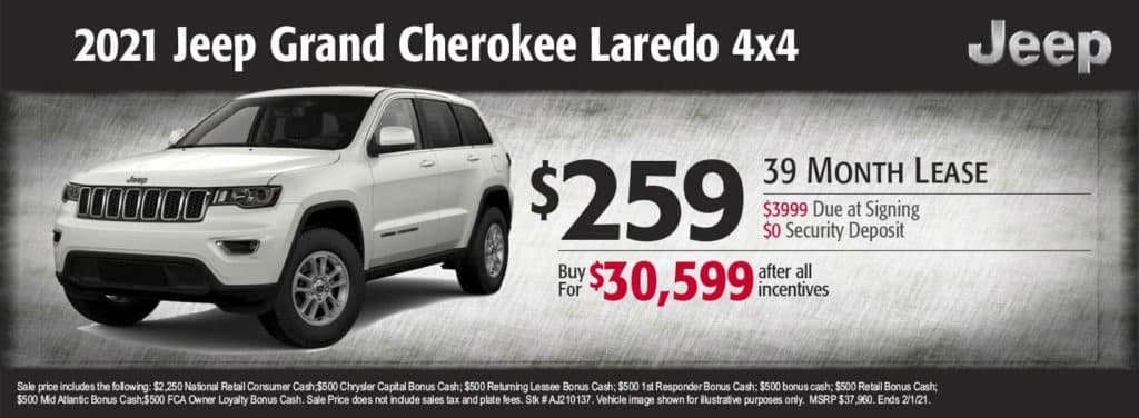 New 2021 Jeep Grand Cherokee Laredo 4x4