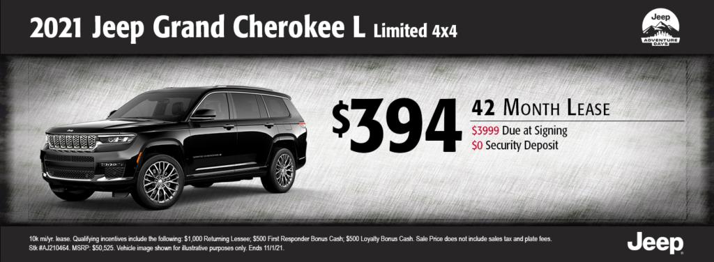 New 2021 Jeep Grand Cherokee L