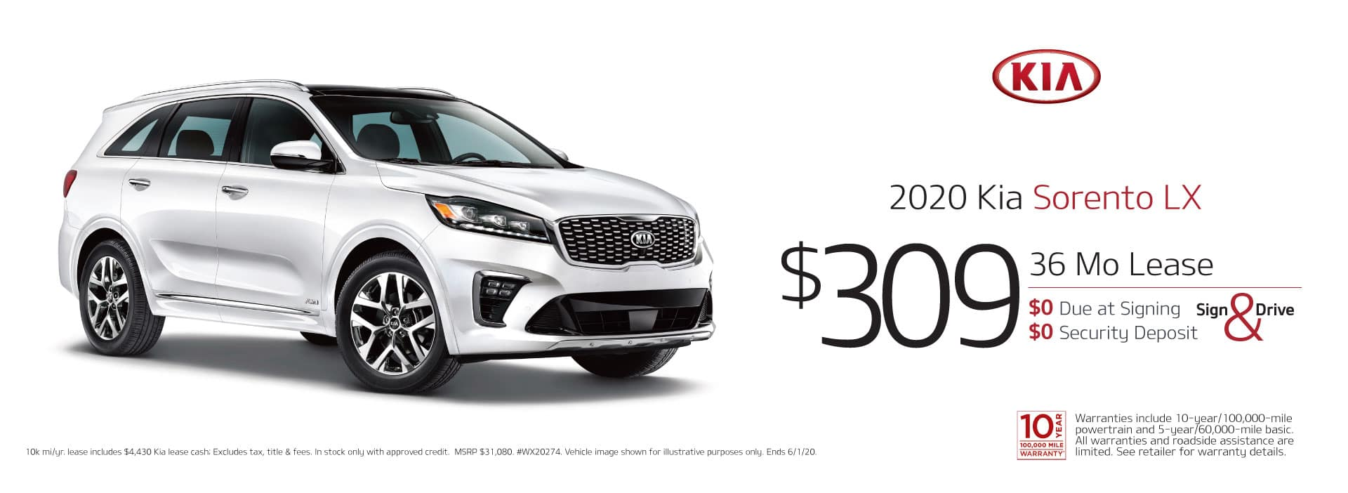 may sorento lease