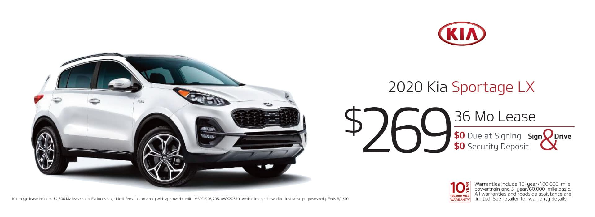 may sportage lease