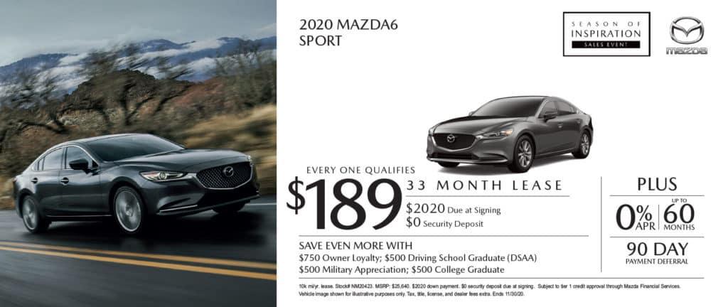 New 2020 Mazda6 Sport