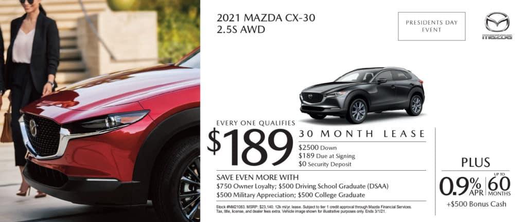 New 2021 Mazda CX-30 2.5S AWD