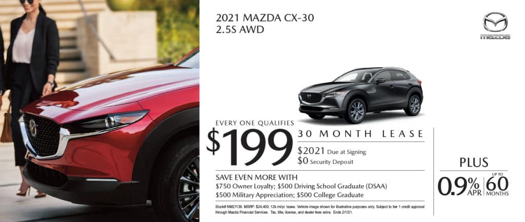 New 2021 Mazda CX-30 2.5S AWD