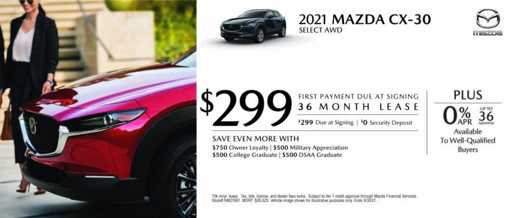 New 2021 Mazda CX-30 - $0 Down