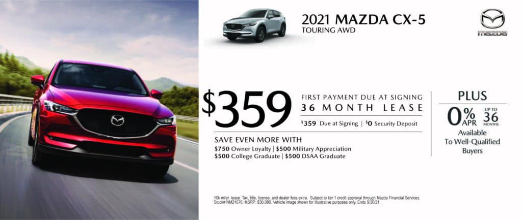 New 2021 Mazda CX-5 - $0 Down