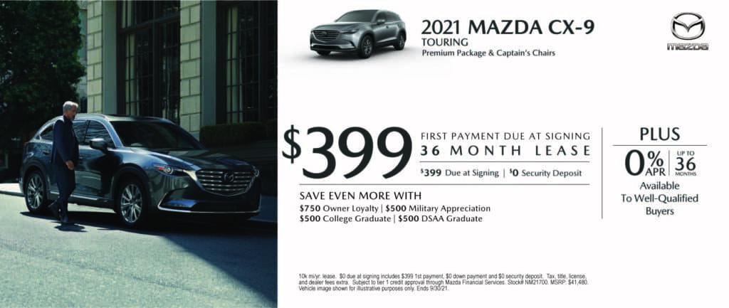 New 2021 Mazda CX-9 - $0 Down