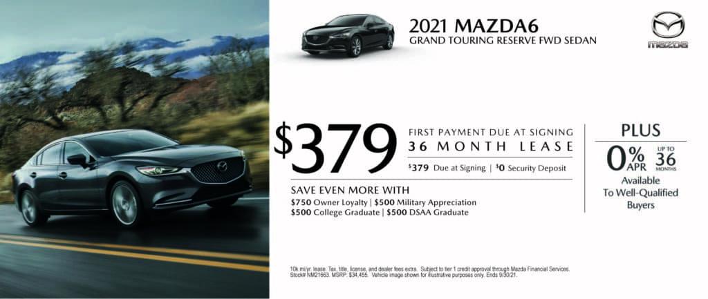 New 2021 Mazda Mazda6 - $0 Down