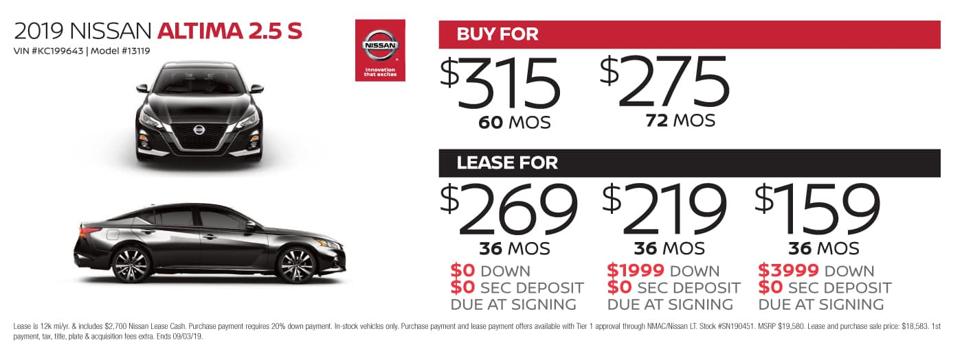 2 Year Car Lease >> Nissan Lease Deals Nissan Finance Deals At Cochran Nissan South Hills