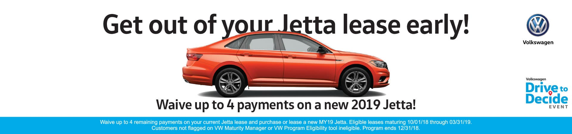 Get out of your Jetta lease early!
