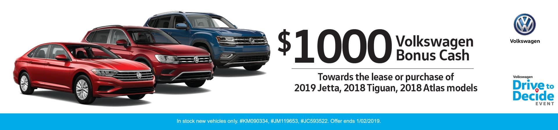 Volkswagen Bonus Cash