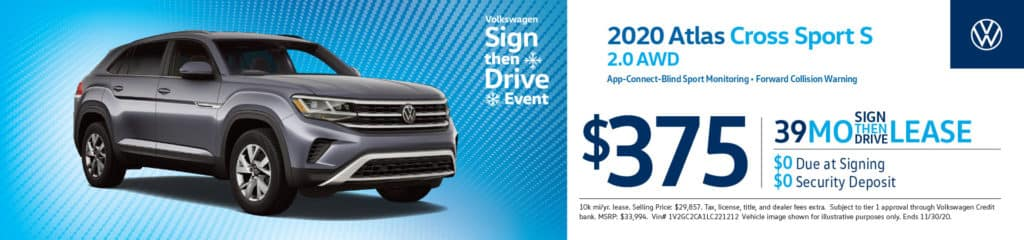 New 2020 Volkswagen Atlas Cross Sport S 2.0 AWD