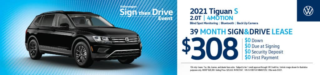 New 2021 Volkswagen Tiguan S 2.0T 4 Motion