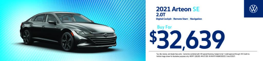 New 2021 Volkswagen Arteon