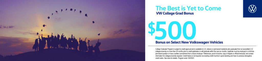 VW College Grad Bonus