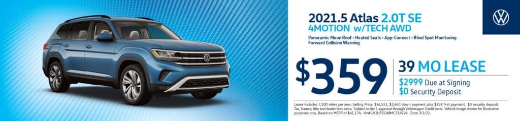 New 2021 Volkswagen Atlas