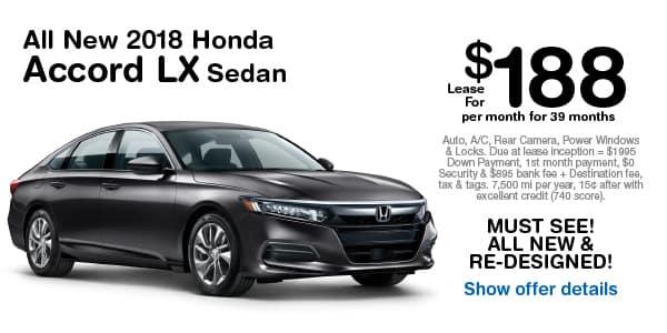 All New 2018 Honda Accord LX Sedan