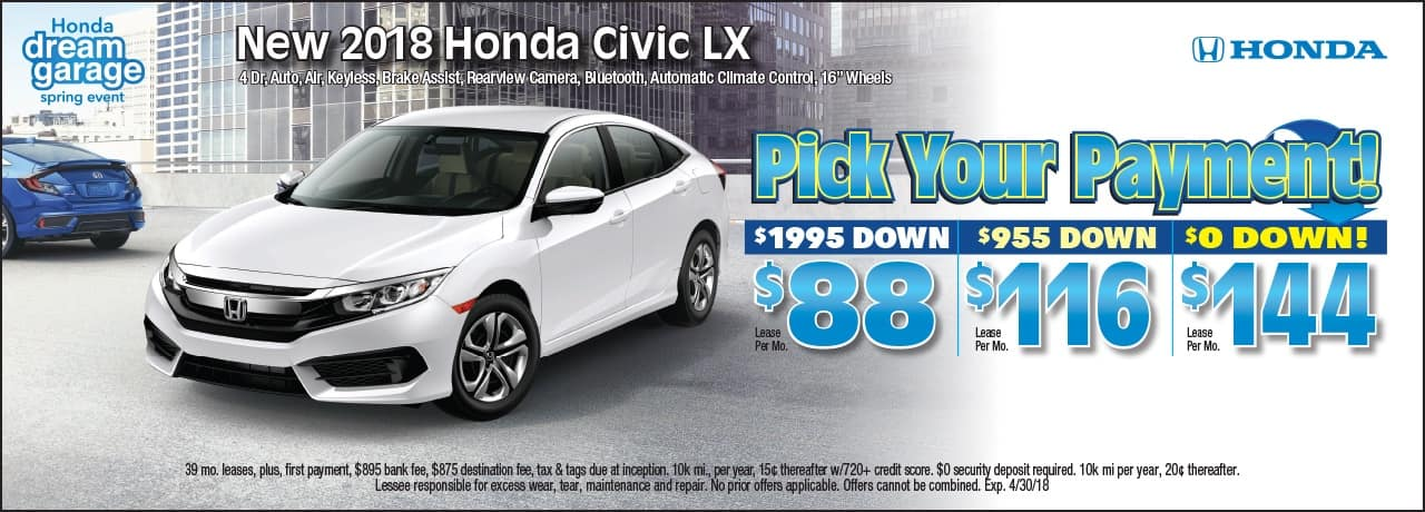 Civic Lease Special