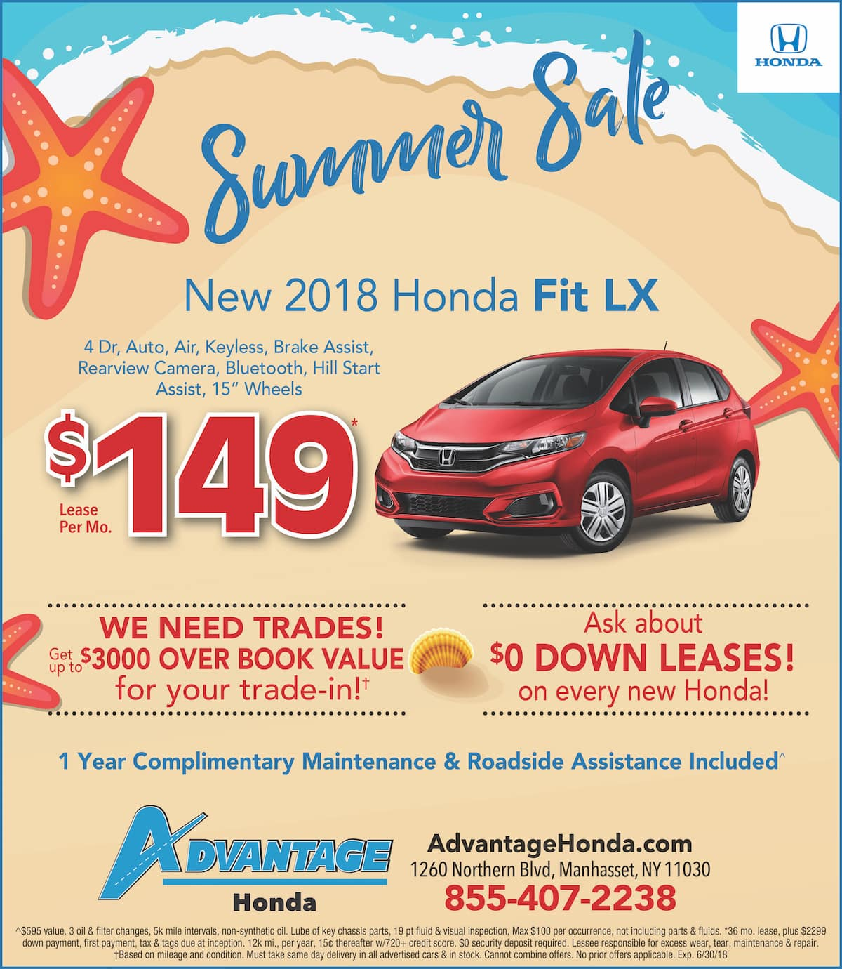 New Honda Fit Lease Special in Manhasset, New York