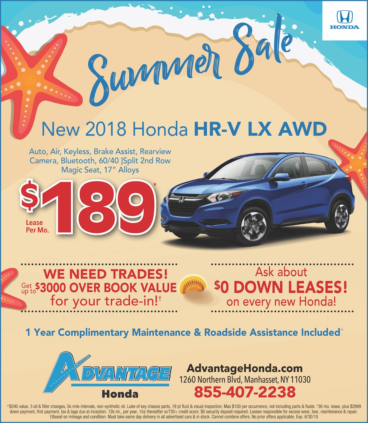 New Honda HR-V Lease Special in Manhasset, New York