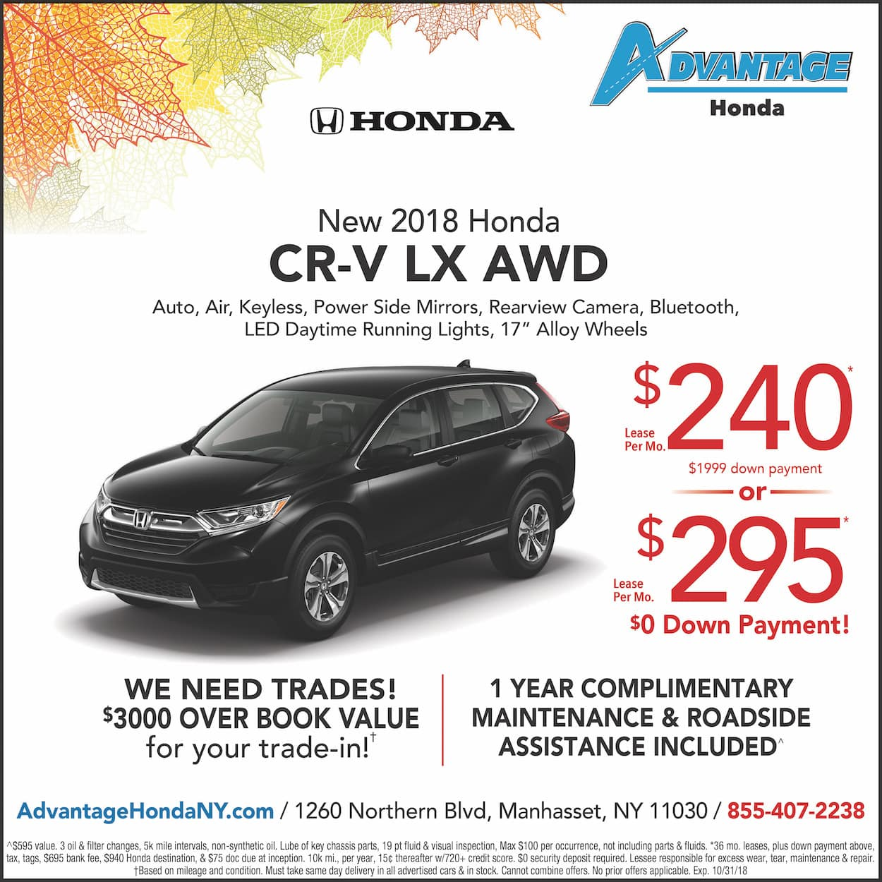 New Honda CR-V Lease Special in Manhasset, New York
