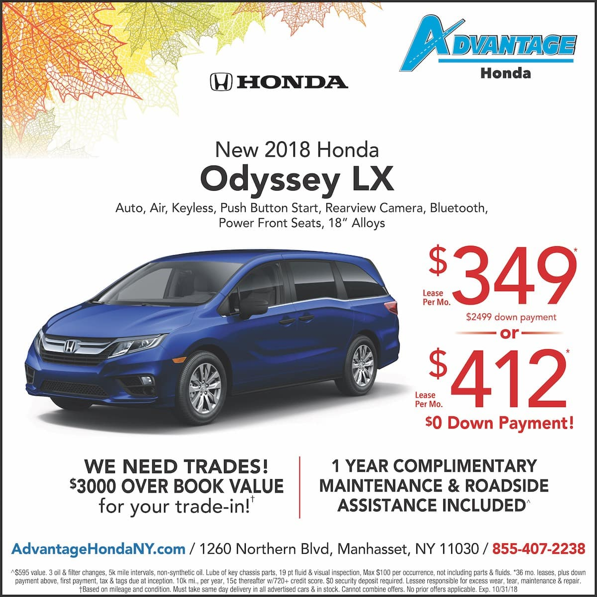 New Honda Odyssey Lease Special in Manhasset, New York