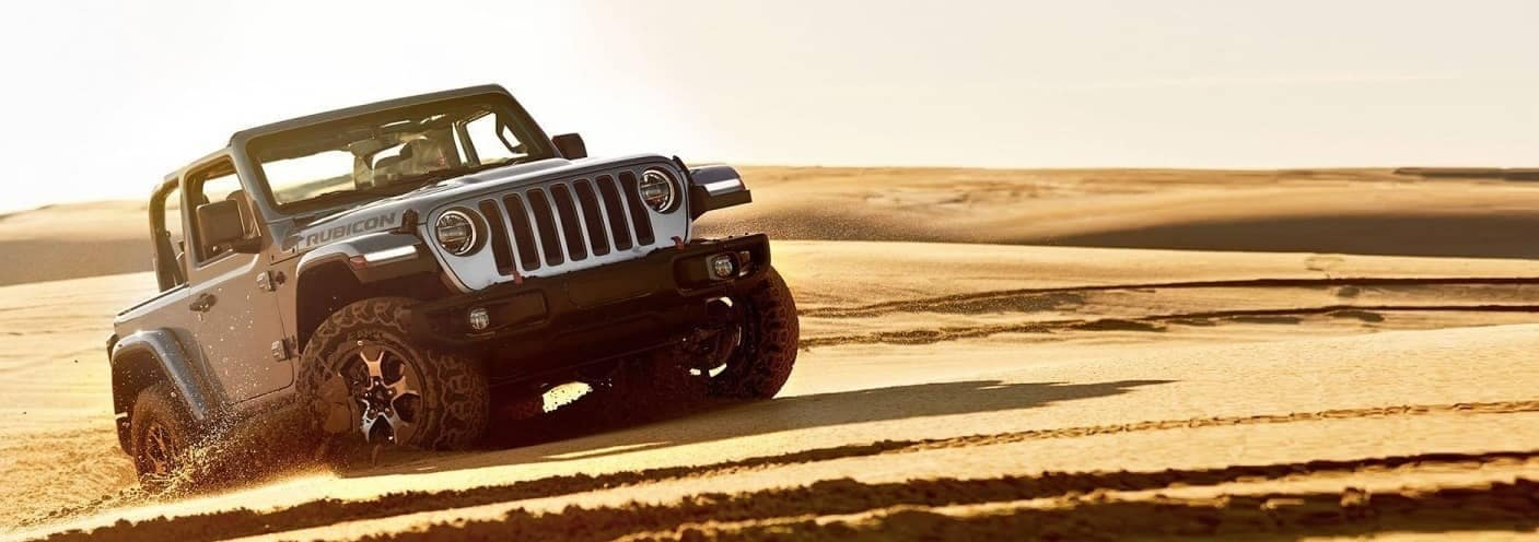 2020 Jeep Wrangler in sand dunes