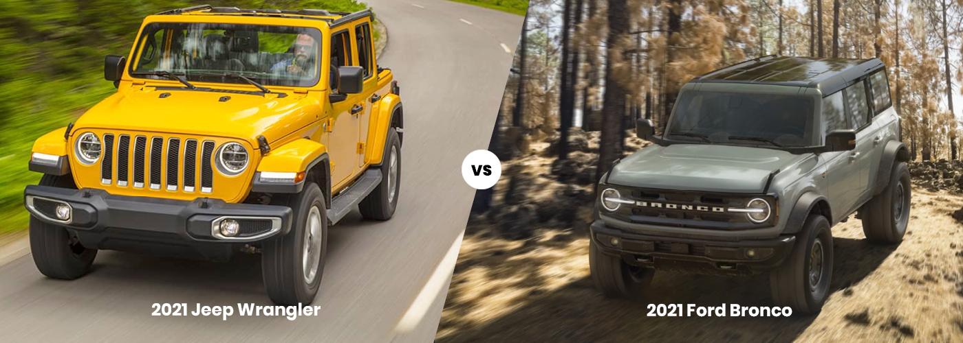 2021 Jeep Wrangler vs. 2021 Ford Bronco