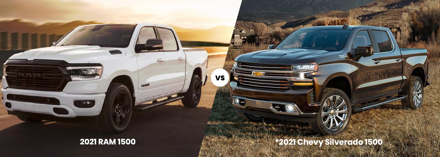 2021 RAM 1500 vs 2020 Chevy Silverado 1500