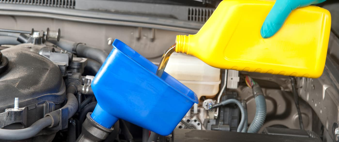 Changing automobile oil