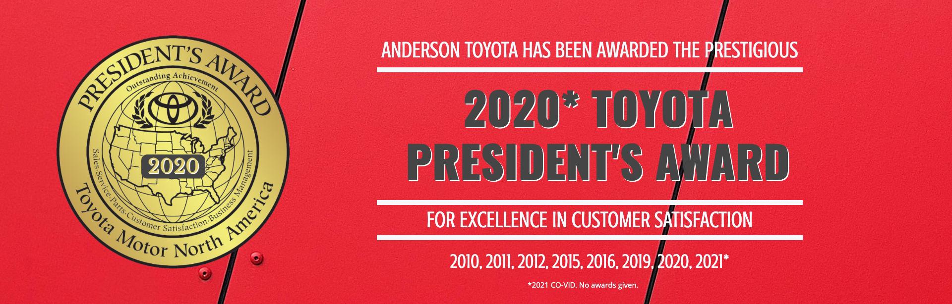 Anderson Toyota President's Award