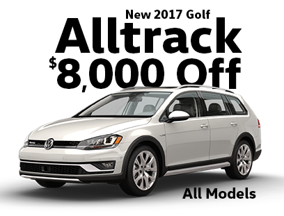 $8000 off 2017 Golf Alltrack Models