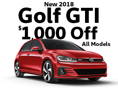 $1000 Off New 2018 Golf GTI Models
