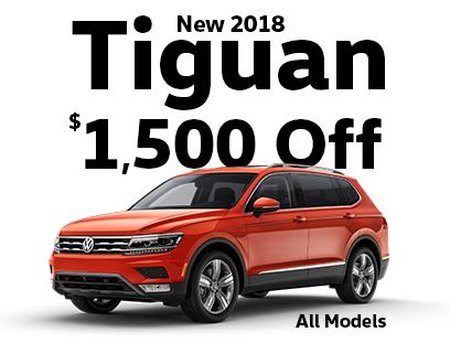 $1500 Off New 2018 Tiguan Models