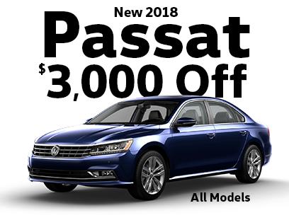 $3000 Off All New 2018 Passat Models