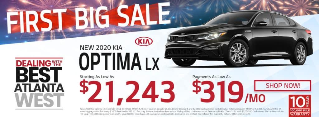 New 2020 Kia Optima Sale