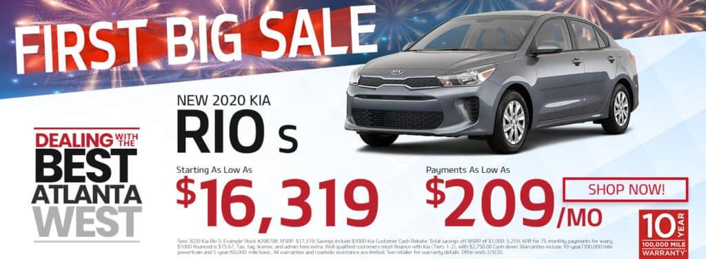 New 2020 Kia Rio Sale