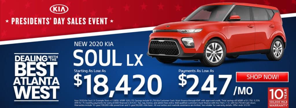 New 2020 Kia Soul Sale