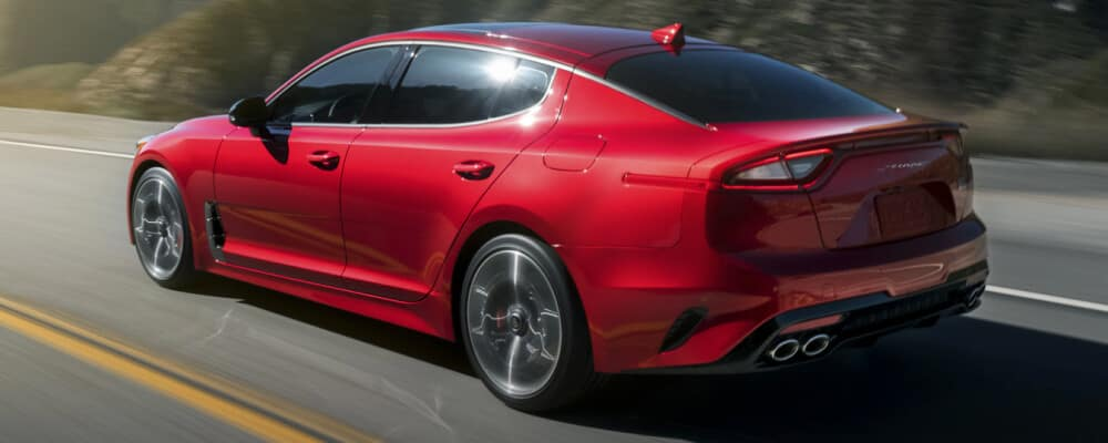 2021 Kia Stinger on road