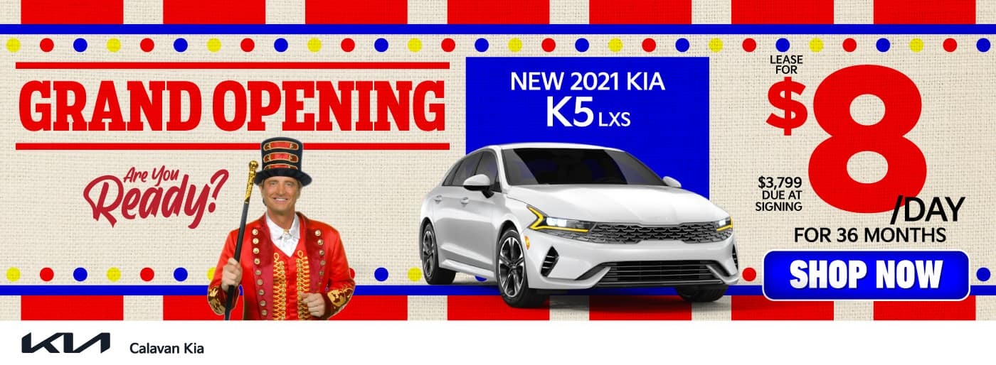 New 2021 Kia K5 - Lease for $8 a day for 36 months - Shop Now