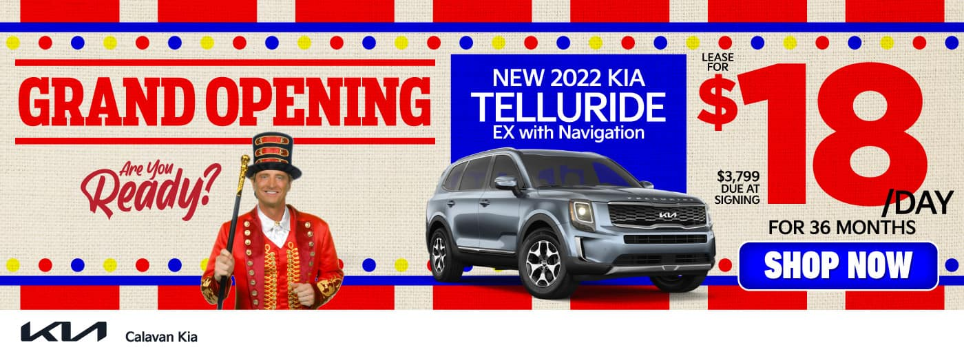 New 2022 Kia Telluride - Lease for $18 a day for 36 months - Shop Now