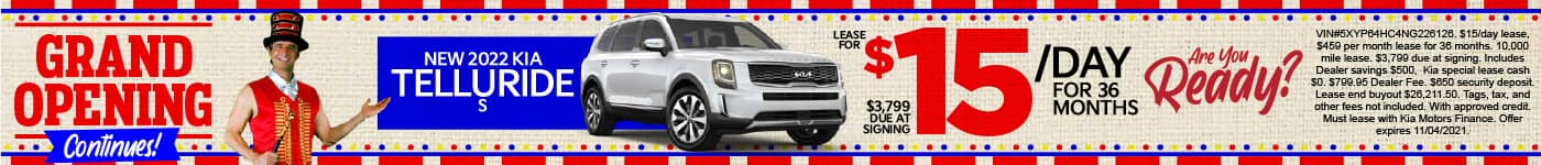New 2022 Kia Telluride - Lease for $15 a day for 36 months - Shop Now