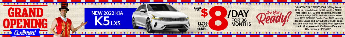 New 2022 Kia K5 - Lease for $8 a day for 36 months - Shop Now