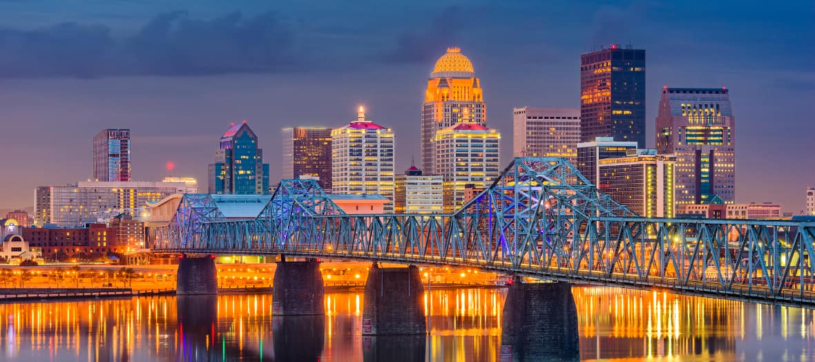 Louisville Kentucky downtown skyline