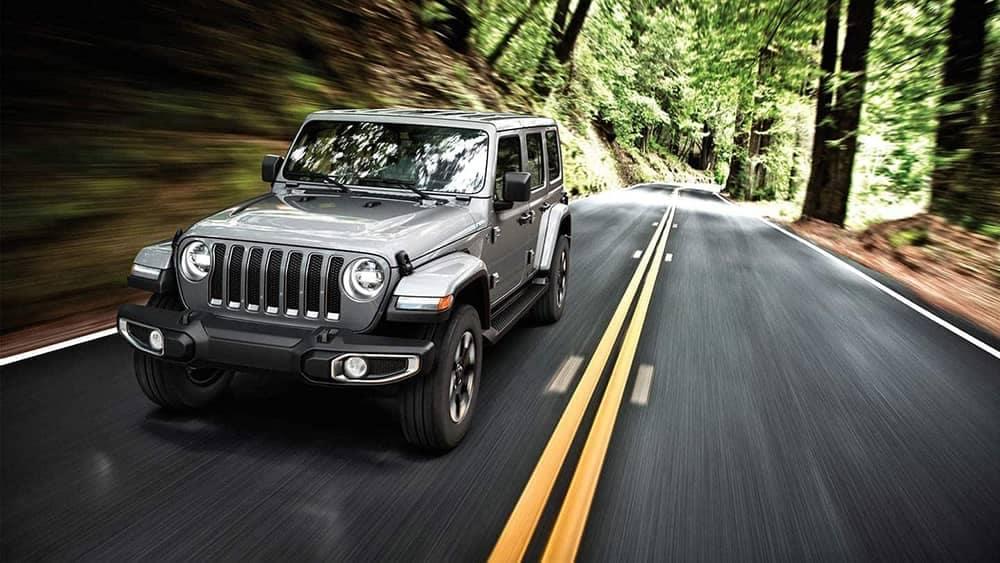 2019 Jeep Wrangler on road