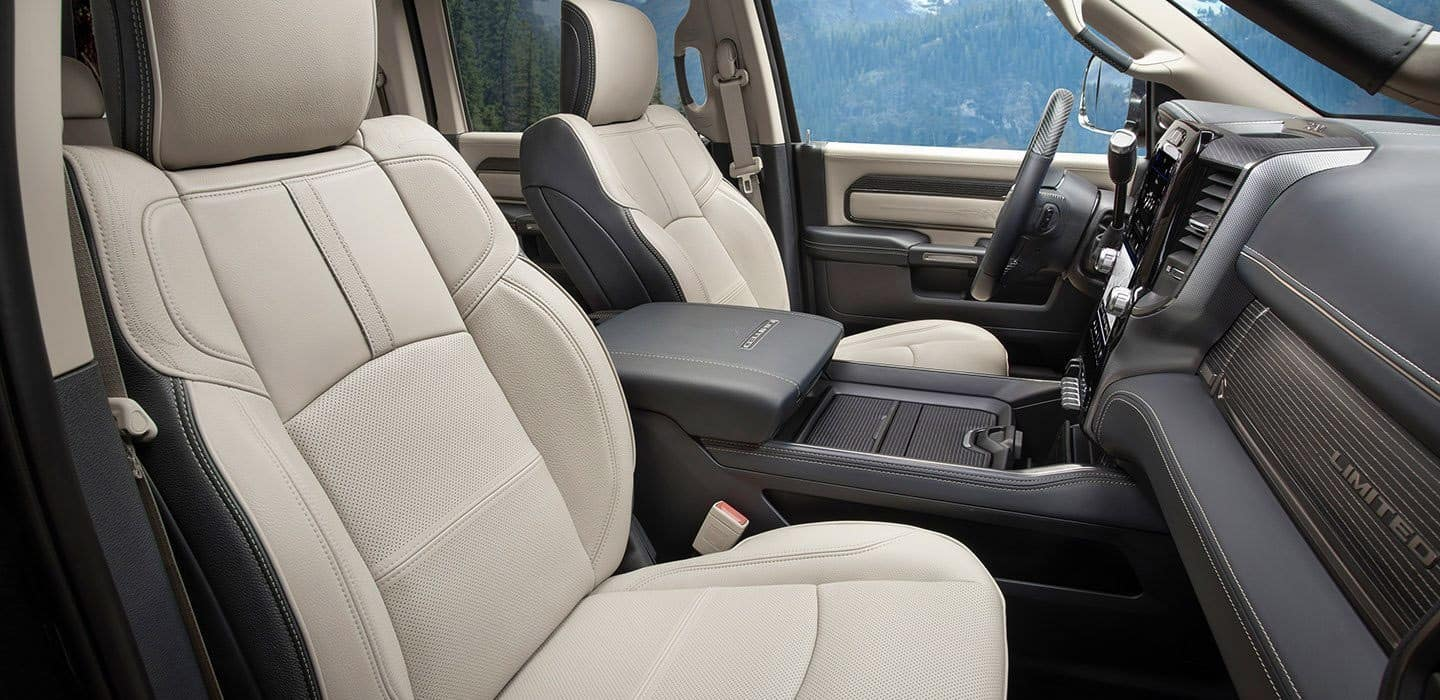 2019 RAM 2500 front interior seating