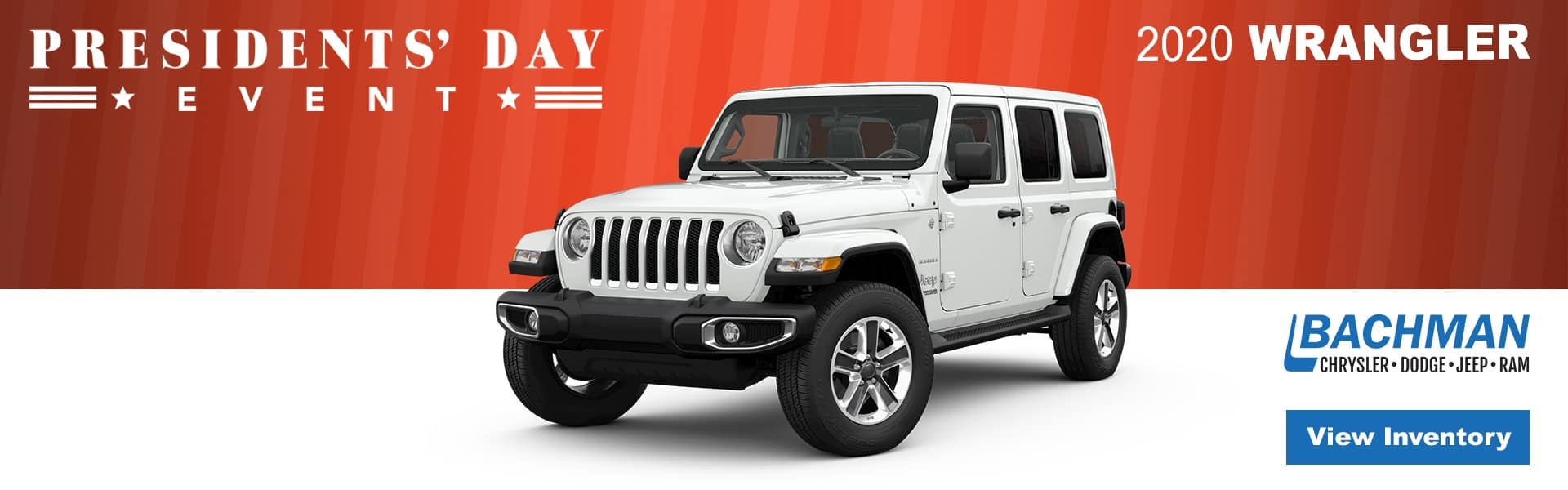 Presidents Day Sales Event Wrangler