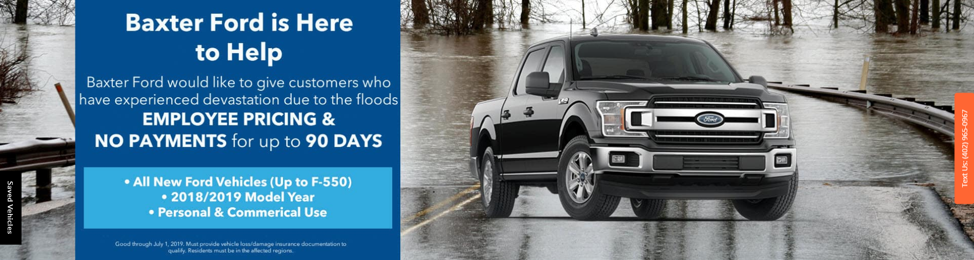 Baxter Ford Flood Relief